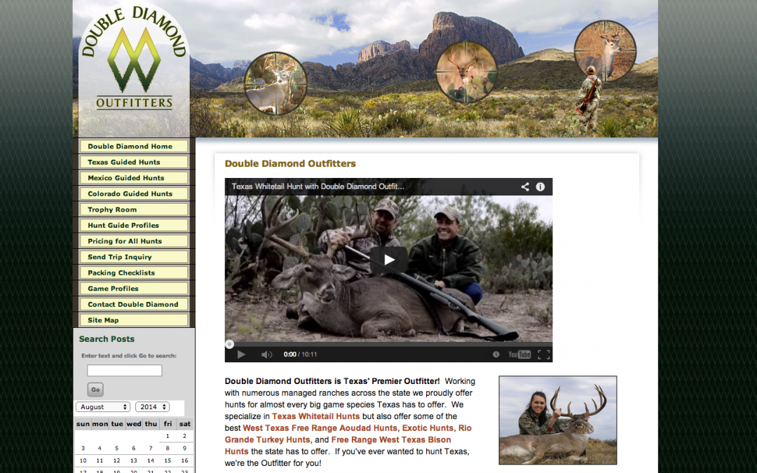 New Website Hunt Double Diamond Outfitters