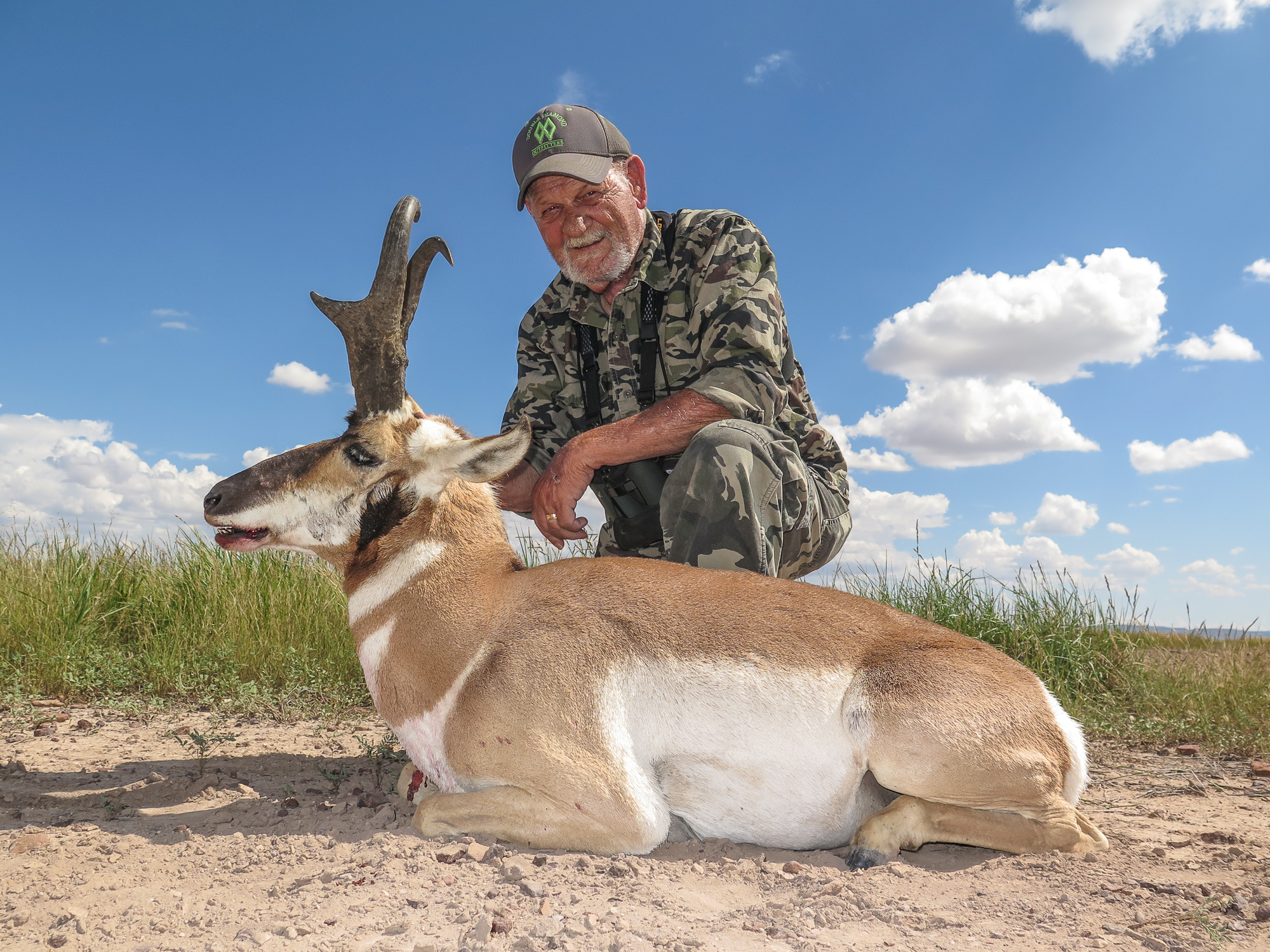 Hunter holding Texas Pronghorn Trophy
