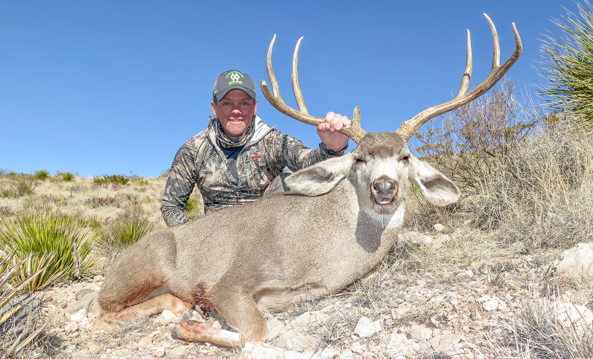 Hunter with large Texas Mule Deer