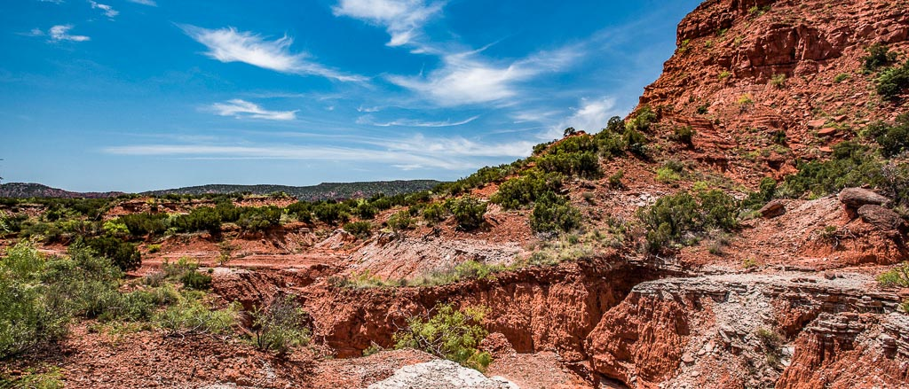 red rocks in west texas desert landscape